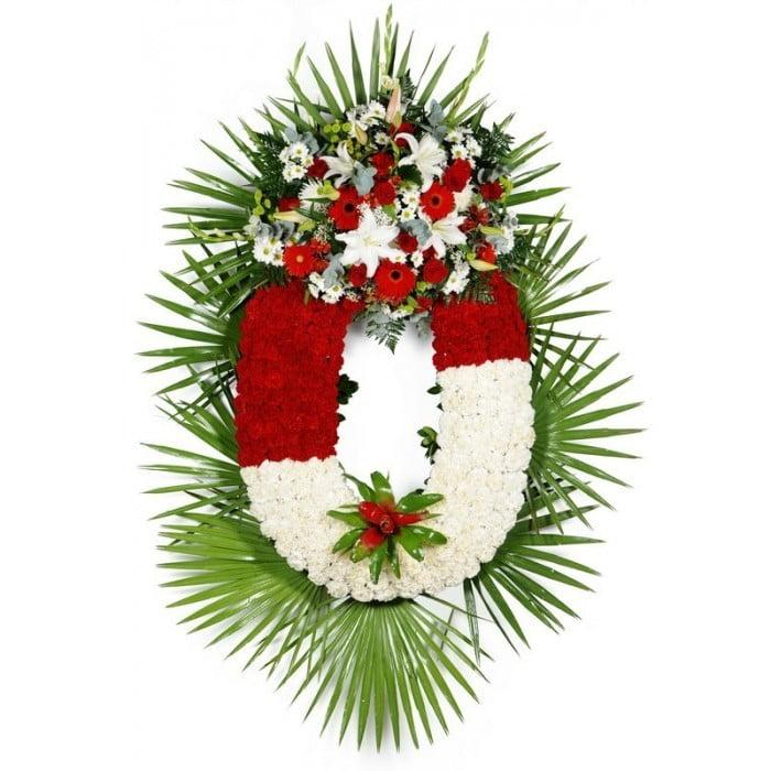 Corona De Flores Con Planta