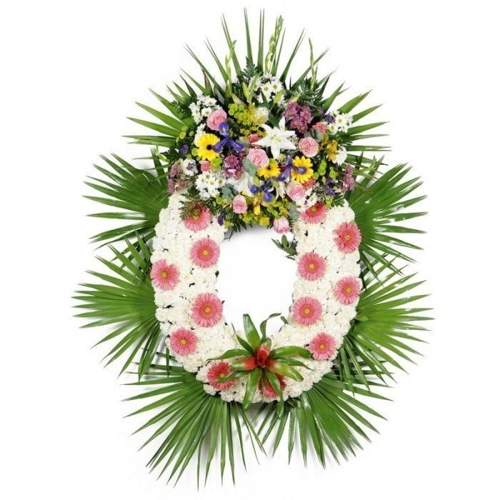 Corona De Flores Con Gerberas