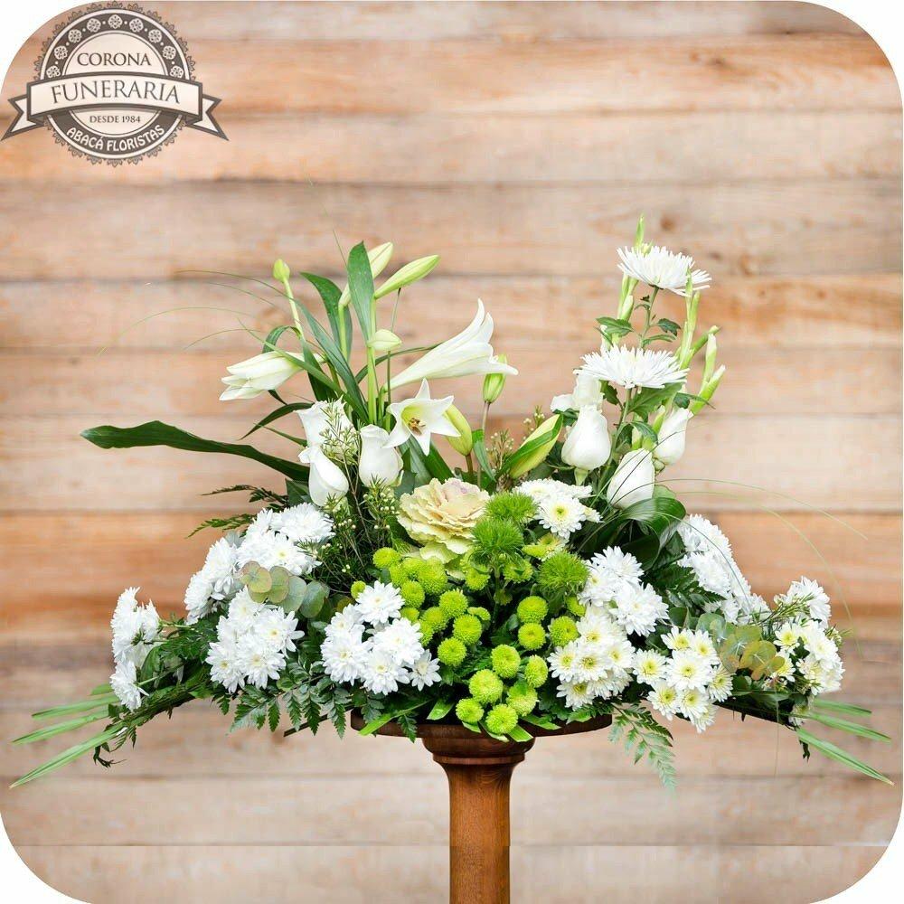 Almohadón De Flores Blanco